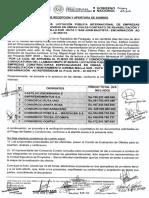 Acta Licitación Pública Internacional para las obras de rehabilitación y mantenimiento (CREMA) Malla Sur-Ruta 1