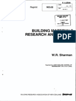 Building Materials Research and Testing
