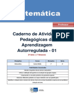 Matematica Regular Professor Autoregulada 2s 1b