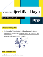 grade 7 core french - les adjectifs