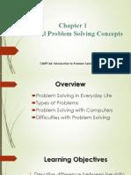 Chapter 1 - General Problem Solving Concept