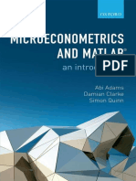 Microeconometrics and MATLAB