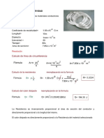 Ejercicios de Resistividad de cobre plata y aluminio
