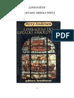265150396 Perry Anderson Linhagens Do Estado Absolutista