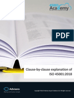 Clause by Clause Explanation of ISO 45001 2018 En