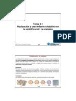 Tema 2.1 - Nucleación y crecimiento cristalino en la solidificación de metales.pdf