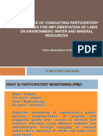 Experience of Conducting Participatory Monitoring for the Implementation of Laws on Environment, Water, and Mineral Resources
