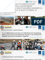 Introduction to Participatory Environmental Monitoring Committees
