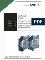 Manual VariTrans P 15000 en Knick