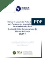 Manual de Usuario Del Portal de Gestión Para Transportistas Autorizados Para El Llenado Electrónico de La DUCA T Intrasat
