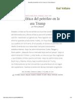 Geopolítica Del Petróleo en La Era Trump, Por Thierry Meyssan