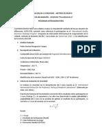 Modelo de Informe de Interlaboratorio