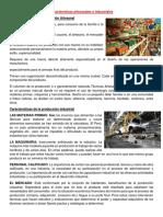 Características Artesanales e Industriales