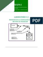 GUIA DE LABORATORIO N°2 MEDICION DE LA ATENUACION OPTICA  REVISADO 2019-I