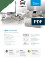 Split Piso Techo R410