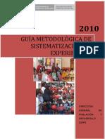Guia Metodologica Sistematizacion de Experiencias