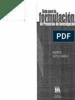 Guia Para La Formulacion de Proyectos de Investigacion