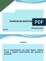 Tecnicas de Investigacion -Presentacion