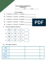 Guia 2 de Matematicas 3º BASICO Numeros