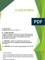 Clase 4- Títulos Supletorios