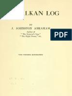 My Balkan Log (1922.) - James Johnston Abraham