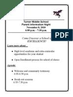 TMS Information Night Flyer 10-11