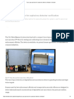 Trace Vapor Generator for Explosives Detector Verification _ TechLink
