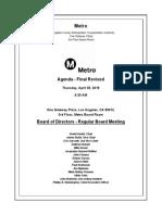 Metro Board of Directors April 2019 agenda