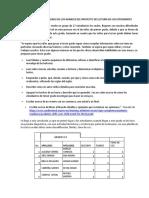 Folio 1. Informe Sistematizado Datos de Avance en La Lectura Por Parte de Los Estudiantes
