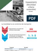 TRANSPORTE(Movilidad Urbana)