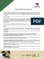 Guía Del Informe Final