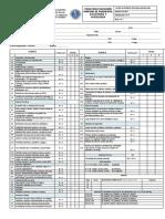Ficha Evaluacion Sanitaria de Panaderias