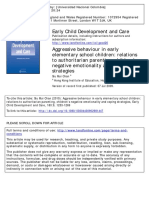 Pregrado - Chan, S.M. (2010). Aggressive Behaviour in Early Elementary School Children. Relations to Authoritarian Parenting, Children's Negative Emotionality and Coping Strategies