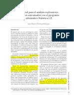 Tutorial para el análisis exploratorio de datos univariados con el programa informático Statistica v.8