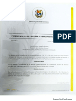Decreto No.5 del mandatario encargado Juan Guaidó