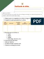 Planificación de Afiche Tercero Basico