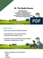 Unit III. the Radio Drama 2