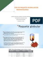 Transfusion de Paquete Globular