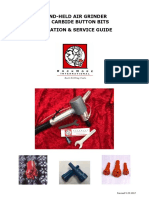 Air Grinder for Button Bits Operation Service Guide En