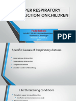 Upper Respiratory Obstruction on Children Dr.pudji
