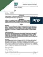 Lab Policies Crossmatch Procedure Gel Method Lab
