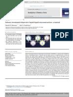 Solvent-terminated Dispersive Liquid-liquid Microextraction_ a Tutorial