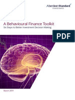 Behavioural Finance a Tool Kit Aberdeen 4-19
