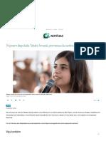 A Jovem Deputada Tabata Amaral, Promessa Da Centro-esquerda No Brasil
