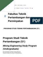 Fakultas Teknik Pertambangan Dan Perminyakan » Program Studi Teknik Pertambangan (S1)
