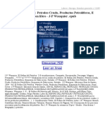 El Refino Del Petroleo Petroleo Crudo Productos Petroliferos E Squemas de Fabricacion