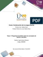 Formato Tarea 1 - Responder preguntas de análisis sobre los conceptos de lectura y escritura.docx