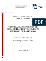 Rehabilitacion Vocal Enf. Parkinson Logopedia