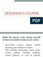 Designing a Course
