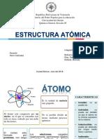 Química General. Estructura atómica. UDO BOLIVAR.